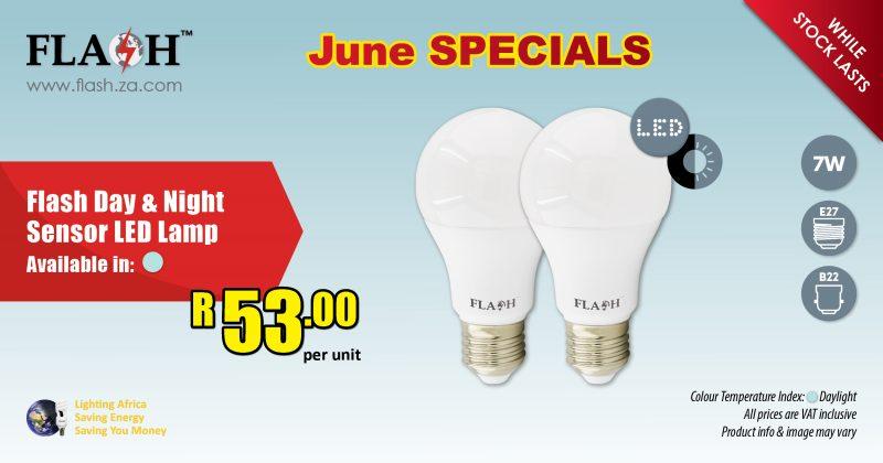 Flash day and night sensor led lamp