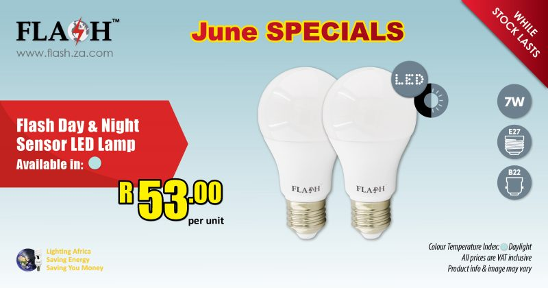 Flash day and night sensor led lamp