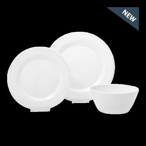 Melamine Dinner Set (white)