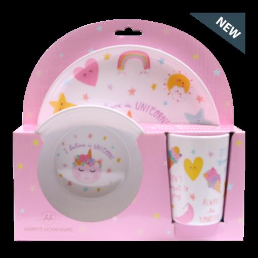 Kids Dinnerware Set (Unicorn)